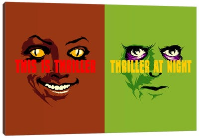 This Is Thriller Double Feature Canvas Art Print