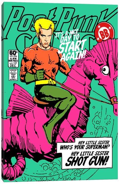 Post-Punk Aqua Canvas Print #BBY92