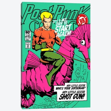 Post-Punk Aqua Canvas Print #BBY92} by Butcher Billy Canvas Wall Art