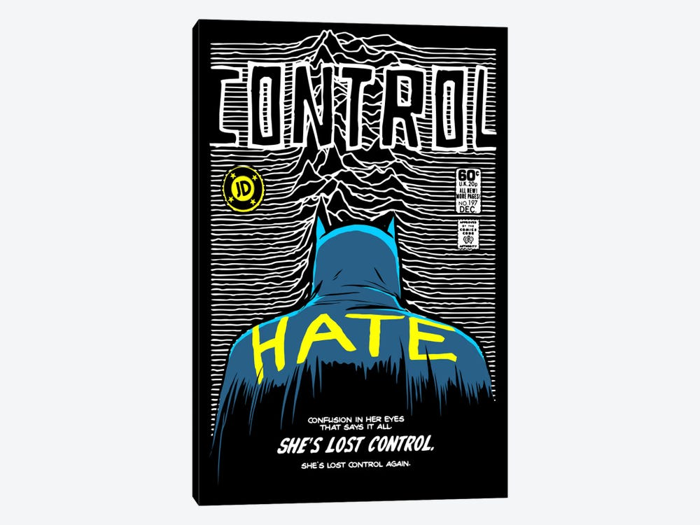 Post-Punk Bat - Control by Butcher Billy 1-piece Canvas Print