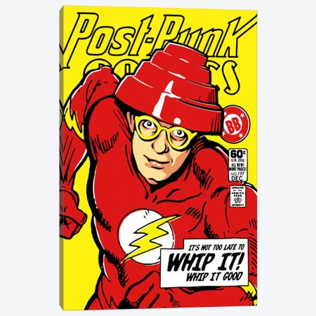 Post-Punk Comics - Whip It Canvas Print #BBY94} by Butcher Billy Art Print