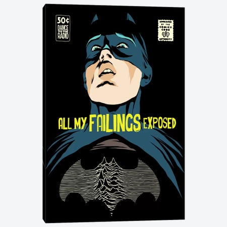 Post-Punk Failings Exposed Canvas Print #BBY96} by Butcher Billy Art Print