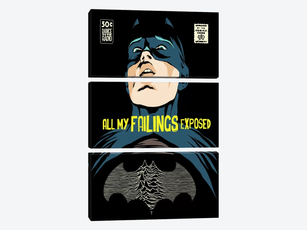 Post-Punk Failings Exposed by Butcher Billy 3-piece Canvas Artwork