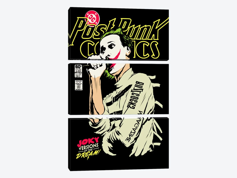 Post-Punk Joky Versions of the Dream by Butcher Billy 3-piece Canvas Print