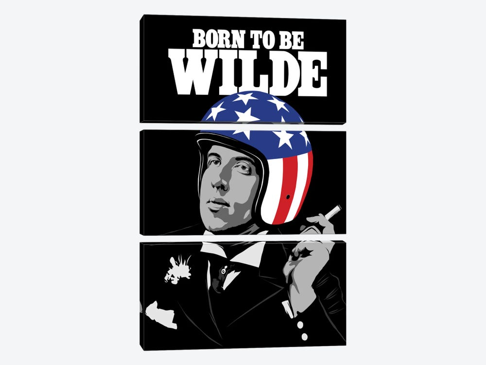 Born To Be Wilde by Butcher Billy 3-piece Canvas Artwork
