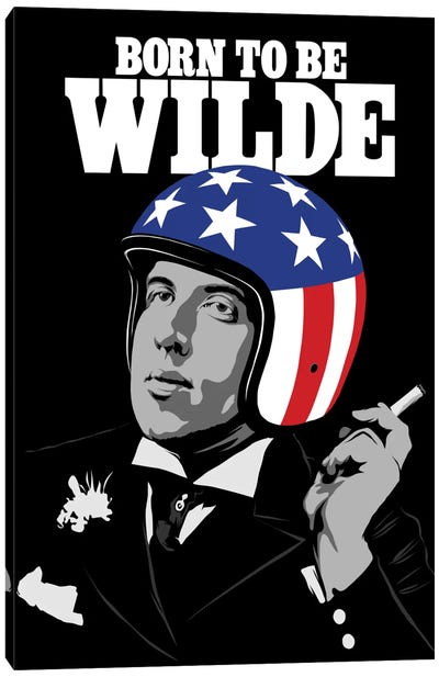 Born To Be Wilde Canvas Art Print