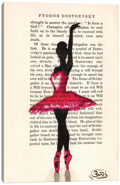 Ballerina In Pink Canvas Art Print