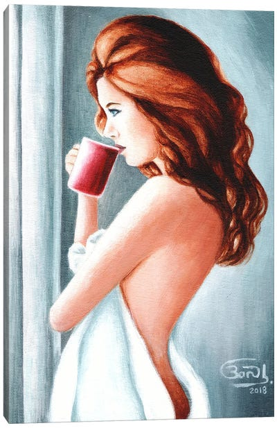 Morning Coffee Canvas Art Print