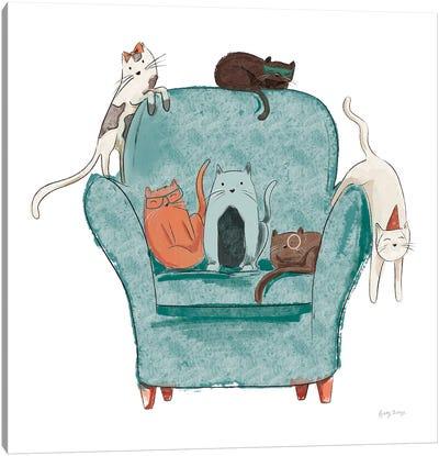 Playful Pets Cats I Canvas Art Print