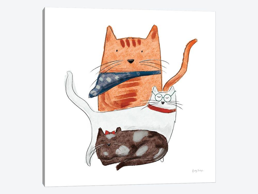 Playful Pets Cats II by Becky Thorns 1-piece Art Print
