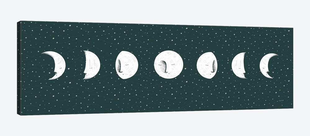 Sweet Dreams Moon Cycle by Becky Thorns 1-piece Canvas Art