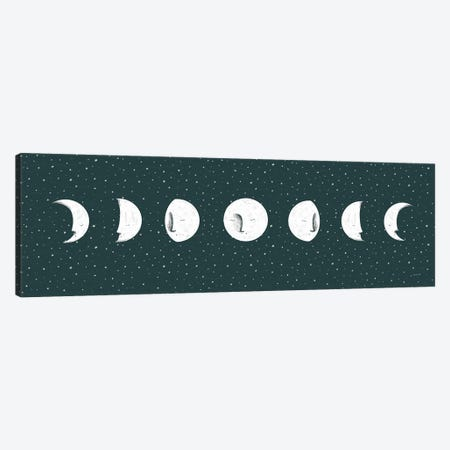 Sweet Dreams Moon Cycle Canvas Print #BCK104} by Becky Thorns Canvas Print