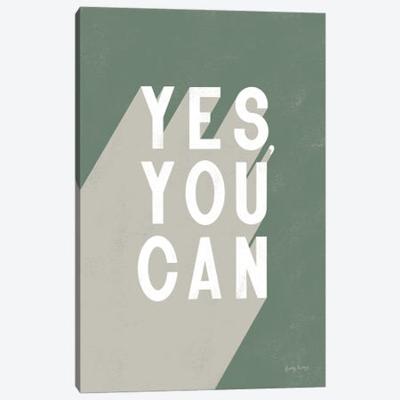 Yes You Can Sage Canvas Print #BCK110} by Becky Thorns Canvas Print