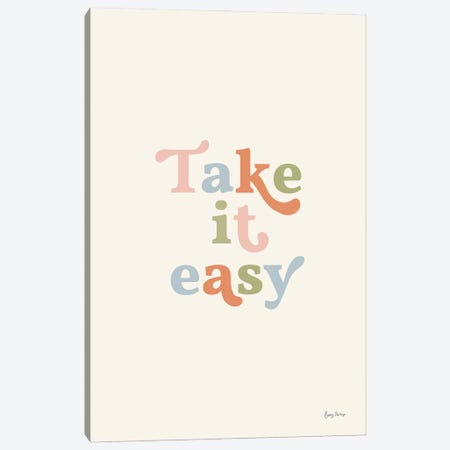 Take it Easy Pastel Canvas Print #BCK115} by Becky Thorns Canvas Wall Art
