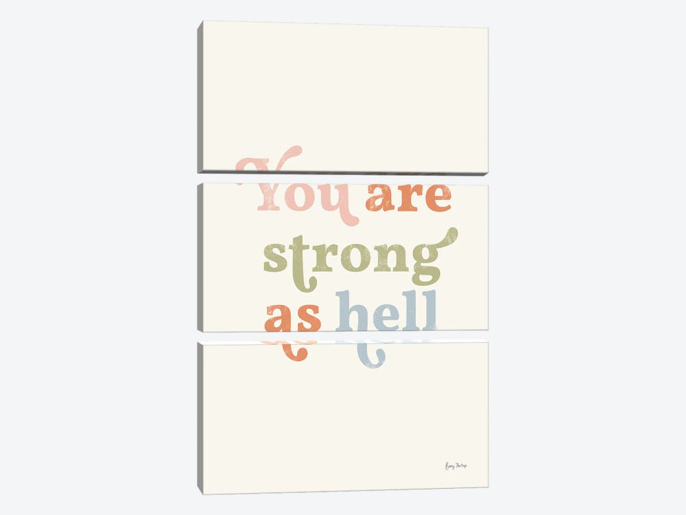 You Are Strong Pastel by Becky Thorns 3-piece Canvas Art Print