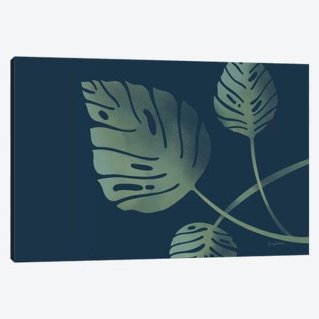 Monstera V Canvas Print #BCK11} by Becky Thorns Art Print