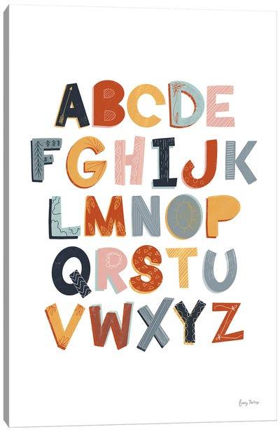 Colorful Alphabet Pastel Canvas Art Print