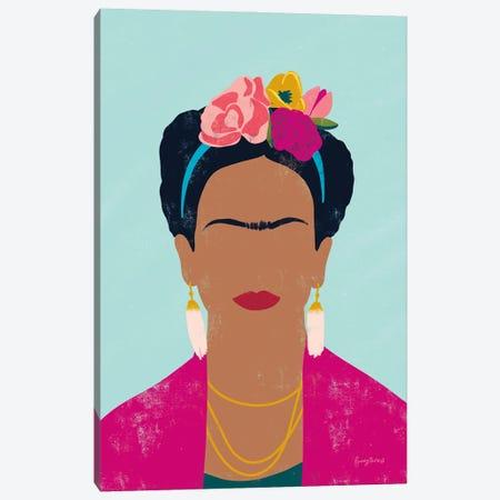 Frida Kahlo I Canvas Print #BCK125} by Becky Thorns Art Print