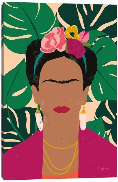 Frida Kahlo I Palms Canvas Art Print