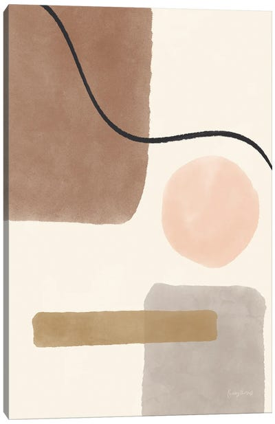 Geo Abstract I Neutral Pink Canvas Art Print