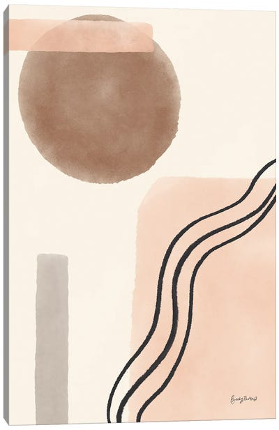 Geo Abstract II Neutral Pink Canvas Art Print
