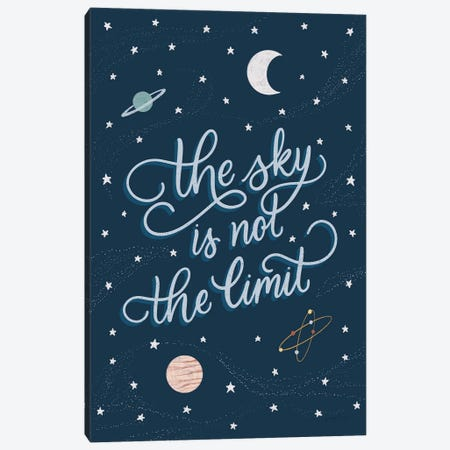 Sky is not the limit Canvas Print #BCK12} by Becky Thorns Art Print