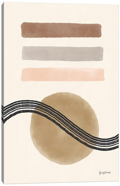 Geo Abstract IV Neutral Pink Canvas Art Print