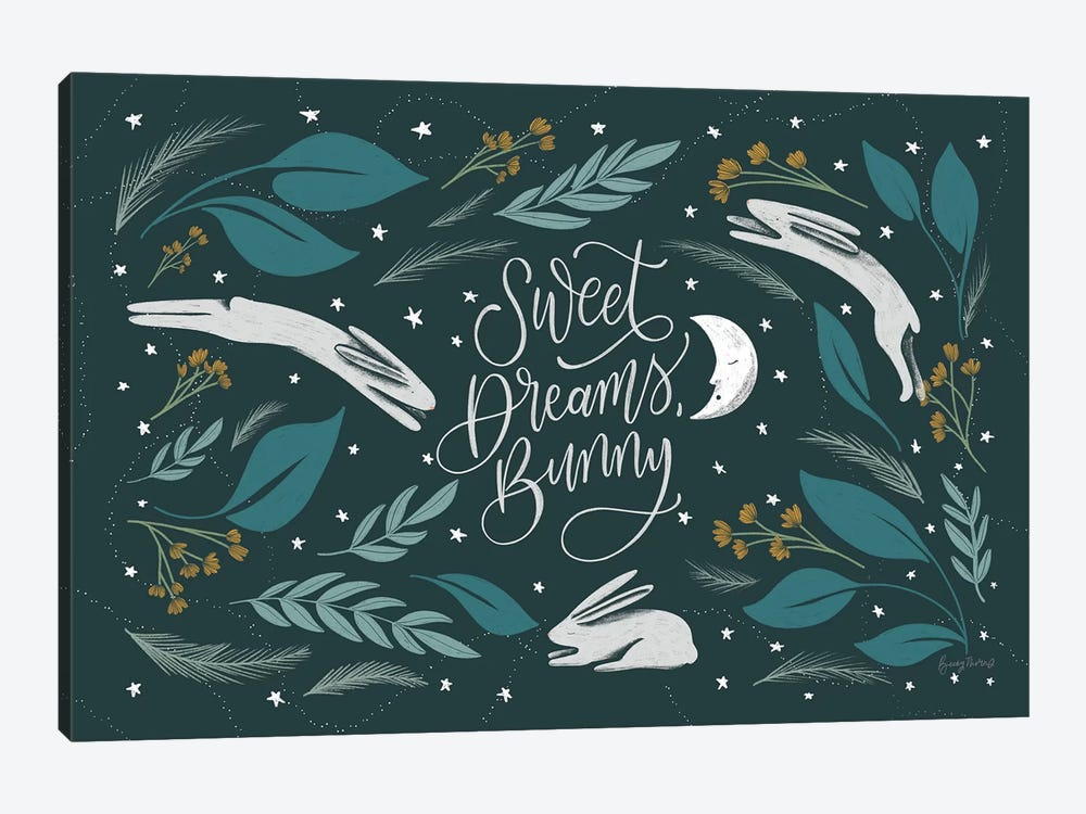 Sweet Dreams Bunny I by Becky Thorns 1-piece Canvas Print