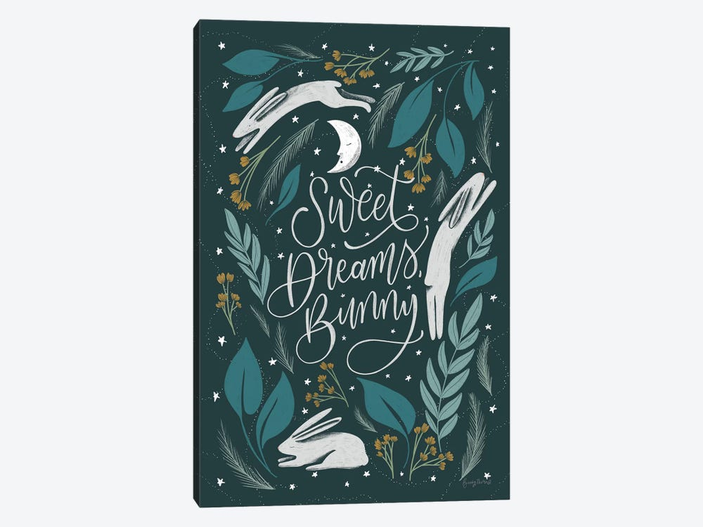 Sweet Dreams Bunny II by Becky Thorns 1-piece Canvas Artwork