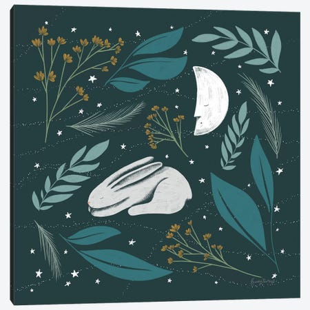 Sweet Dreams Bunny IV Canvas Print #BCK16} by Becky Thorns Canvas Artwork