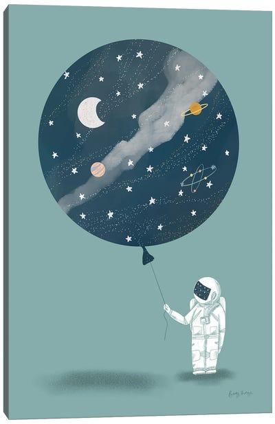Astronaut Balloon Canvas Art Print