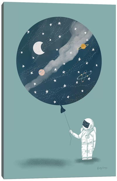 Astronaut Balloon Canvas Art Print