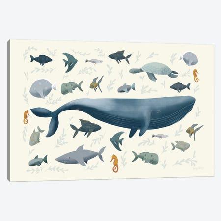 Ocean Life Canvas Print #BCK29} by Becky Thorns Canvas Art