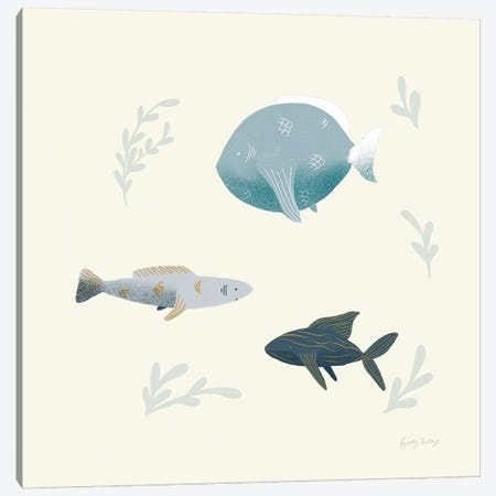 Ocean Life Fish 3-Piece Canvas #BCK30} by Becky Thorns Art Print