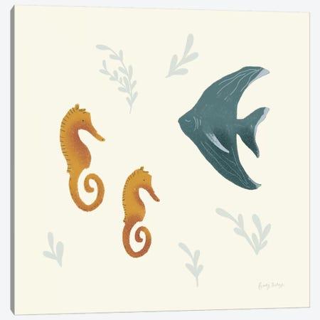 Ocean Life Seahorses Canvas Print #BCK32} by Becky Thorns Art Print
