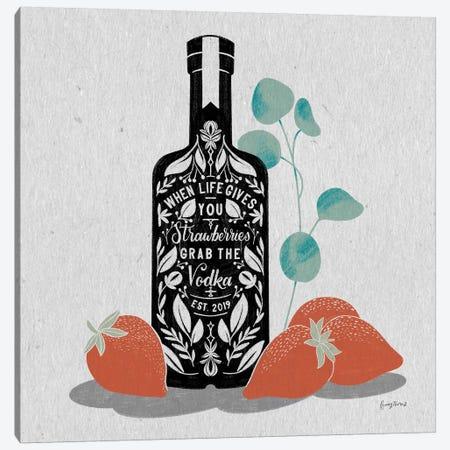 Fruity Spirits Vodka Canvas Print #BCK36} by Becky Thorns Canvas Wall Art