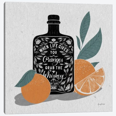 Fruity Spirits Whiskey Canvas Print #BCK37} by Becky Thorns Canvas Art