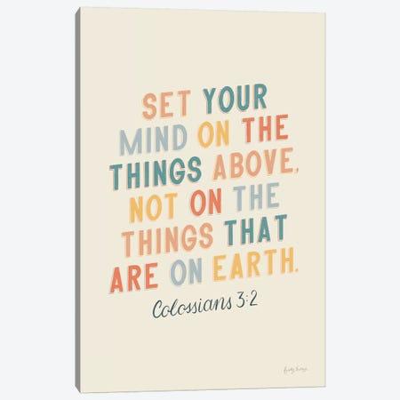 Bible Saying II Canvas Print #BCK39} by Becky Thorns Art Print