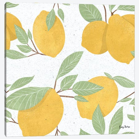 Fruity Cocktails Pattern II Canvas Print #BCK63} by Becky Thorns Canvas Art