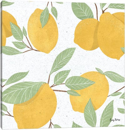 Fruity Cocktails Pattern II Canvas Art Print