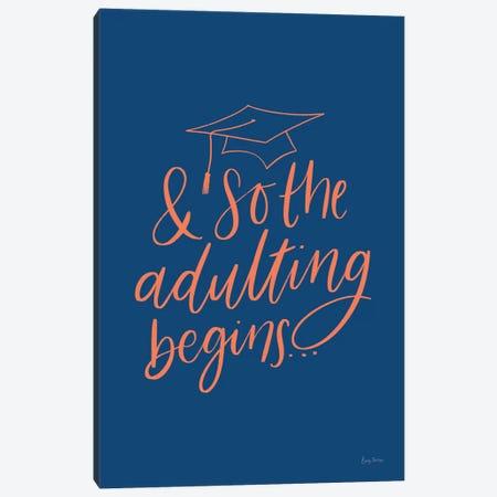 Graduation IV Blue Canvas Print #BCK73} by Becky Thorns Canvas Art Print