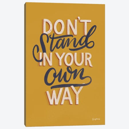 Encouraging Words - Stand Canvas Print #BCK87} by Becky Thorns Art Print