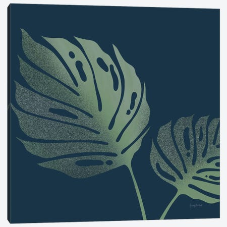 Monstera II Canvas Print #BCK8} by Becky Thorns Canvas Artwork