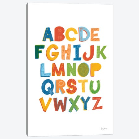 Colorful Alphabet Canvas Print #BCK92} by Becky Thorns Canvas Art Print