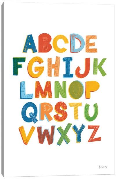 Colorful Alphabet Canvas Art Print