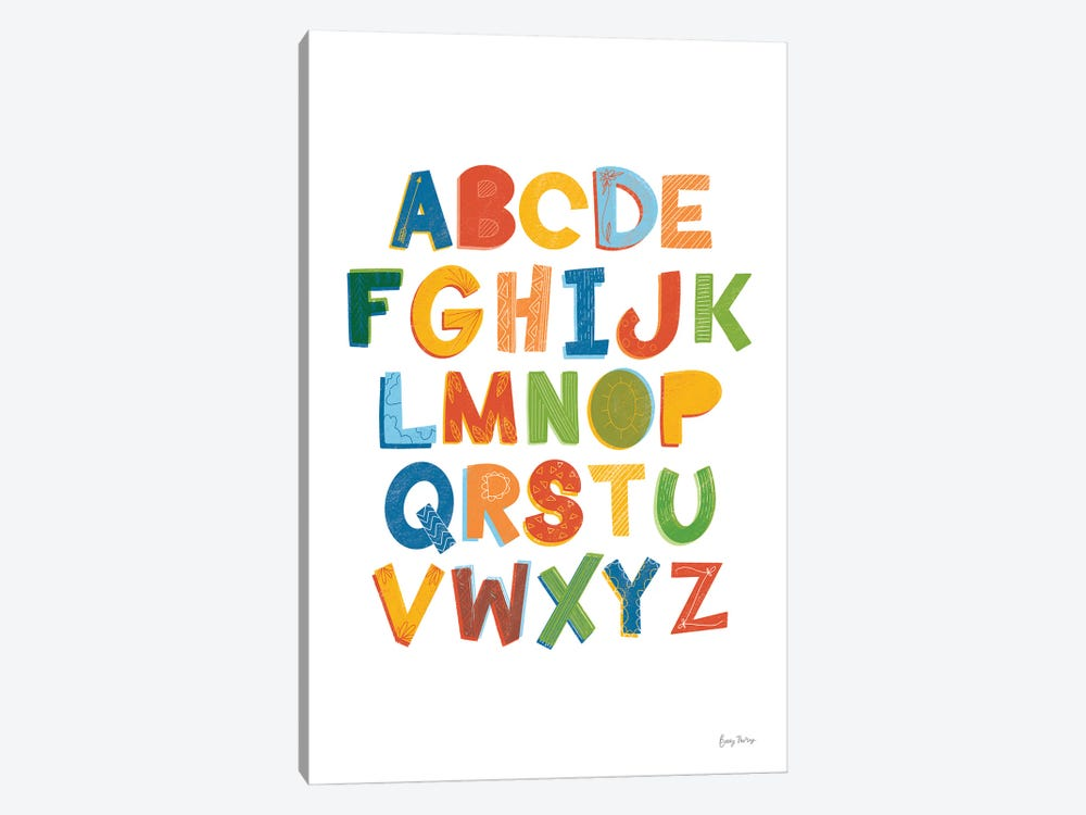 Colorful Alphabet by Becky Thorns 1-piece Canvas Art
