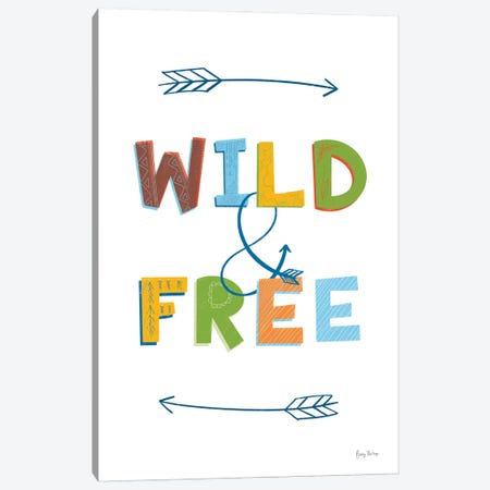 Wild and Free Canvas Print #BCK93} by Becky Thorns Art Print