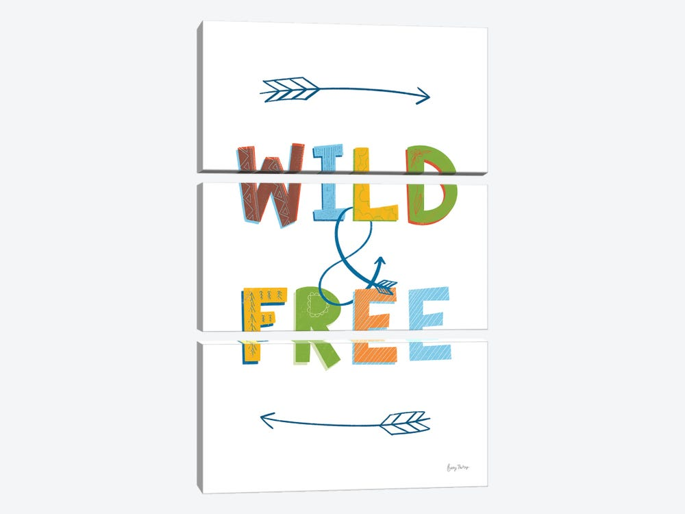 Wild and Free by Becky Thorns 3-piece Art Print