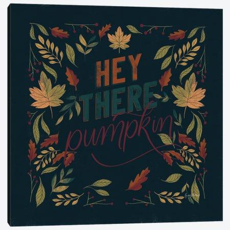 Autumn Sayings I Pumpkin Canvas Print #BCK95} by Becky Thorns Canvas Art