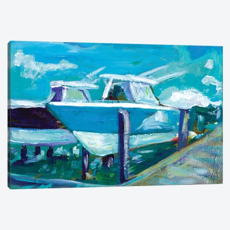 Docked Boats 3-Piece Canvas #BCM11} by Andy Beauchamp Canvas Print
